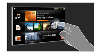 Capacitive touch-screen for smooth and intuitive navigation