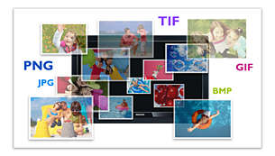 View photos in various formats