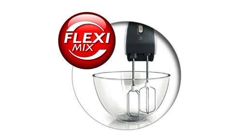 Dank der FlexiMix-Funktion können Sie mit den Quirlen perfekt mixen.