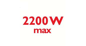 2200 W para uma saída de vapor intensa e constante
