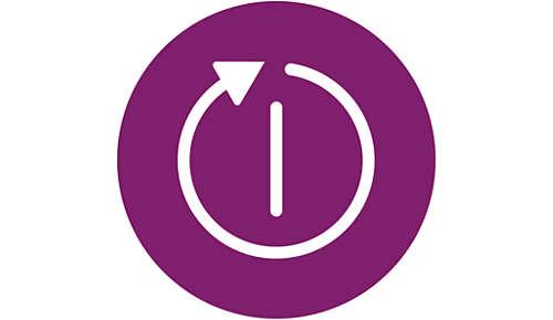 Schaltet automatisch aus für mehr Sicherheit und geringeren Energieverbrauch