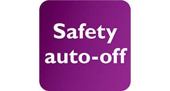 Automatisch uitgeschakeld voor veiligheid en energiebesparing