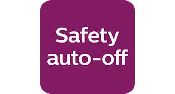 Automatikus kikapcsolás a biztonság és az energiatakarékosság érdekében