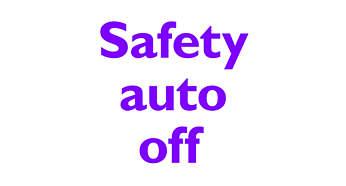 Stängs av automatiskt för säkerhet och energibesparing