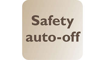 Automatically turned off for safety and energy saving