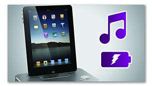 Reproduza e carregue o seu iPod/iPhone/iPad