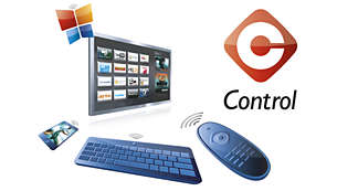 Control the TV with your smart phone, tablet or keyboard