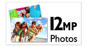 Oppløsning på opptil 12megapiksler for bilder av høy kvalitet