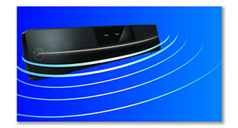 Curved SoundBar design for a wider sound dispersion