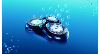 Máy cạo râu có thể rửa sạch với hệ thống QuickRinse