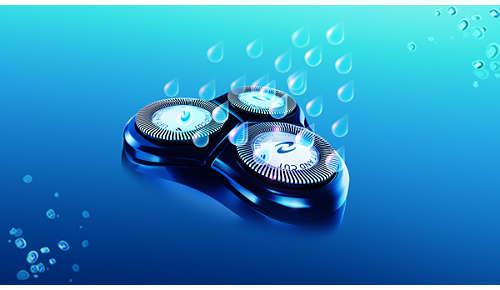 Abwaschbarer Rasierer mit QuickRinse-System
