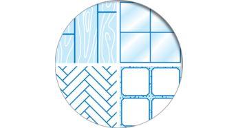 Высокоэффективные щетки отлично удаляют пролитые жидкости, загрязнения и пыль. Они подходят для твердых наполных покрытий.