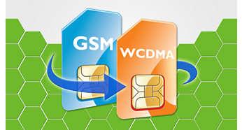 Modo doble (WCDMA y GSM), cobertura doble