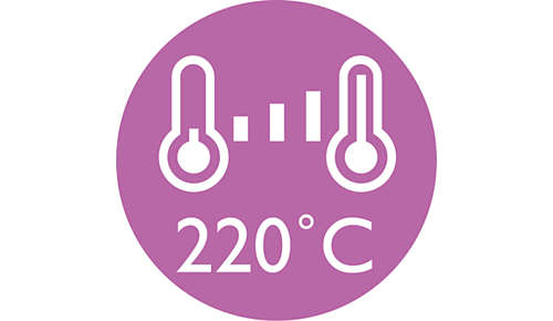 Accurate control 220°C with variable temperature