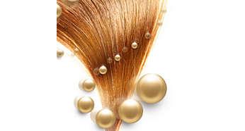 Meer verzorging met ionenconditioner voor glanzend, pluisvrij haar