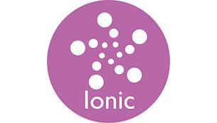 Дополнительный уход с помощью системы ионизации для гладких и блестящих волос