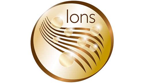 Fonction ionique: plus de soin, pour des cheveux brillants et sans frisottis