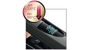 Retoca tu peinado de una forma sana, gracias a los ajustes automáticos con temperaturas más suaves