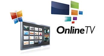 Diversos aplicativos on-line, além de vídeos para alugar e o serviço Catch-up TV