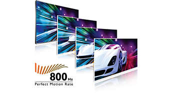 Perfect Motion Rate (PMR) de 800 Hz para una nitidez de movimiento extraordinaria