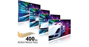 400 Hz Perfect Motion Rate (PMR) per un'estrema nitidezza del movimento