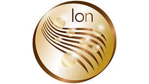More Care with ion conditioning for shiny, frizz-free hair