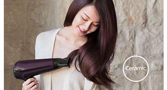 陶瓷配件能發出遠紅外線熱力,給予秀髮加倍呵護