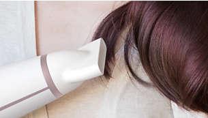 扁平的風力集中吹嘴可吹整出完美的髮型