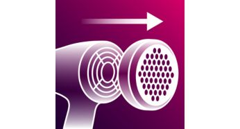 Avoid hair trapping with the removable filter - Philips Hairdryer