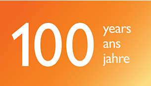 100 años de experiencia de Philips en tecnología de luz