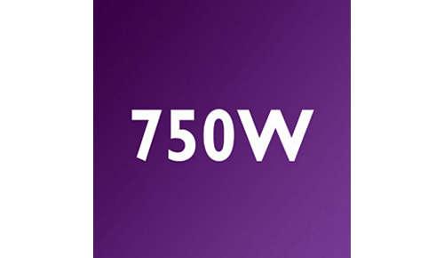 750-Watt-Motor für leistungsstarke Verarbeitung