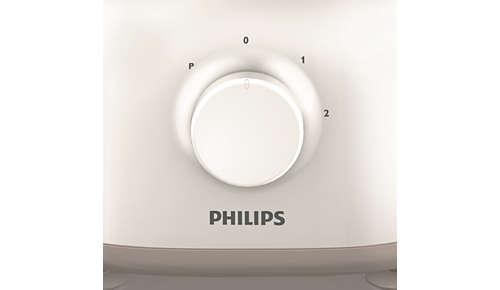 2réglages de vitesse et fonction Pulse pour un confort optimal