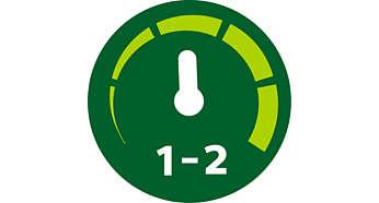 To hastighetsinnstillinger og puls for maksimal kontroll