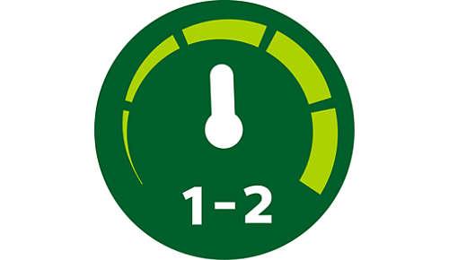 2 hastighetsinställningar och puls för maximal kontroll