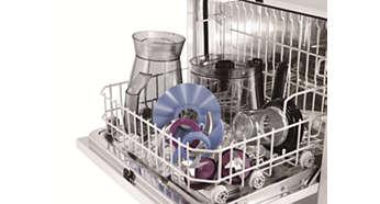 Akcesoria można czyścić w zmywarce