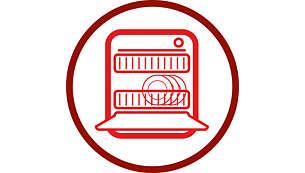 ملحقات قابلة للغسل في آلة غسل الصحون