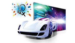 Active 3D Max technology to deliver a Full HD 3D experience