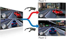 Полноэкранный режим 3D Max для двух игроков