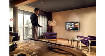 Philips Net TV voor populaire onlinediensten op uw hotel-TV