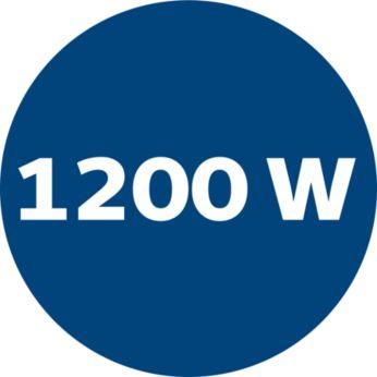 1200 Watt motor generating high suction power