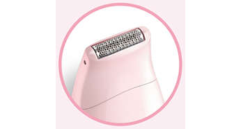 Micro shaver with hypo-allergenic foil for hyper-smooth skin