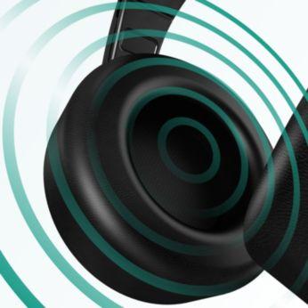 Akustisch abgestimmte 40-mm-Lautsprecher für detailgetreuen ausgewogenen Klang