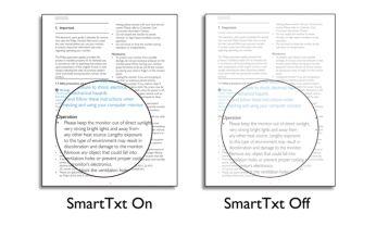 Funkce SmartTxt pro optimalizaci čtení