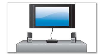 Se conecta fácilmente a tu televisor con un único cable