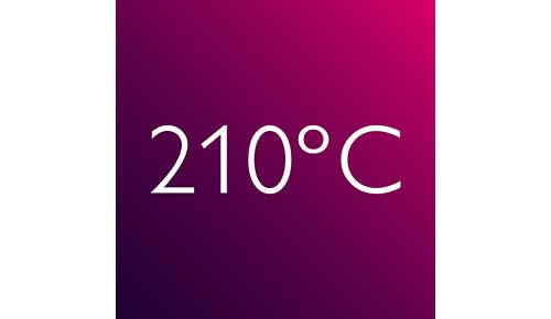 Plancha para el pelo: temperatura profesional (210 °C) para un resultado perfecto