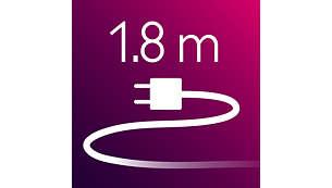 Plancha para el cabello: cable de alimentación de 1,8 m de longitud