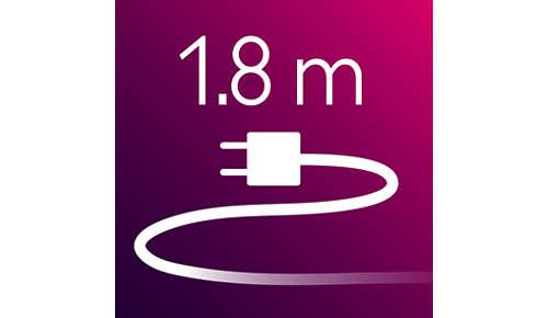 Plancha para el pelo: cable de alimentación de 1,8m de longitud