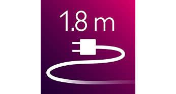 Secador: cable de alimentación de 1,8m de longitud