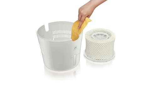 Beste Reinigungsfähigkeit durch minimalistisches Design