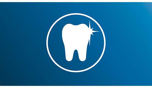 Gjør tennene mer enn dobbelt så hvite sammenlignet med en manuell tannbørste